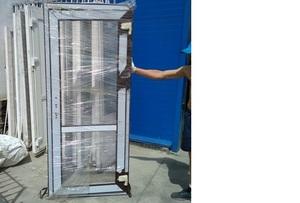 Дверь пластиковая 900х2070 Artec без фурн только петли без с/п ламинация с улицы