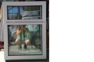 Окно пластиковое 1000(350+650)х730 32 с/п Alpenprof