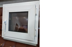 Окно пластиковое для бани 500х500 32 1 кам. с/п Alpenprof